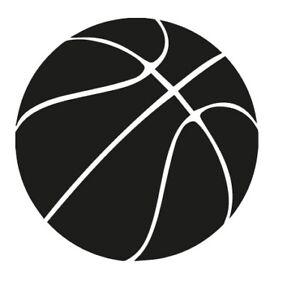 Balon-baloncesto-basket-basketball-ball-pegatina-aufkleber-vinilo-18-colours