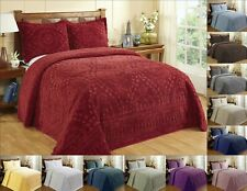 Better Trends Rio 100% Cotton Tufted Chenille Bedspread Assorted Sizes Colors