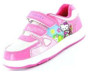 Niñas Hello Kitty Mulberry Skate Rosa formadores Zapatos Tallas 6-12