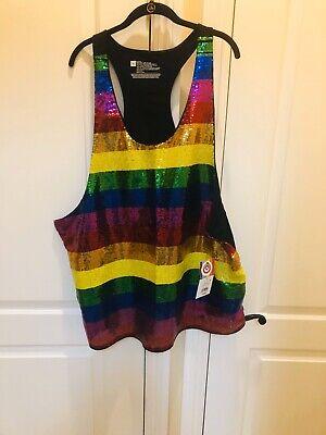 New Junior/'s Rainbow Ally Black Racerback Tank Top LGBT Pride Support Friends