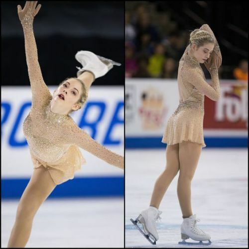 Ice skating dress Competition Figure Skating Dress Baton Twirling  Costume Y018  40% off