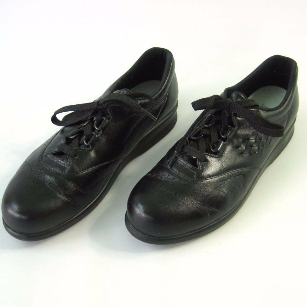 SAS Free Time Black Walking Comfort Shoes Tripad Women's Size 9 Slim Narrow
