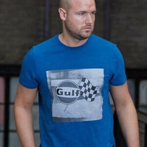 Grandprix Originals Gulf Racing Flagge T-Shirt GPO Gulf Le Mans Vintage Oldtimer