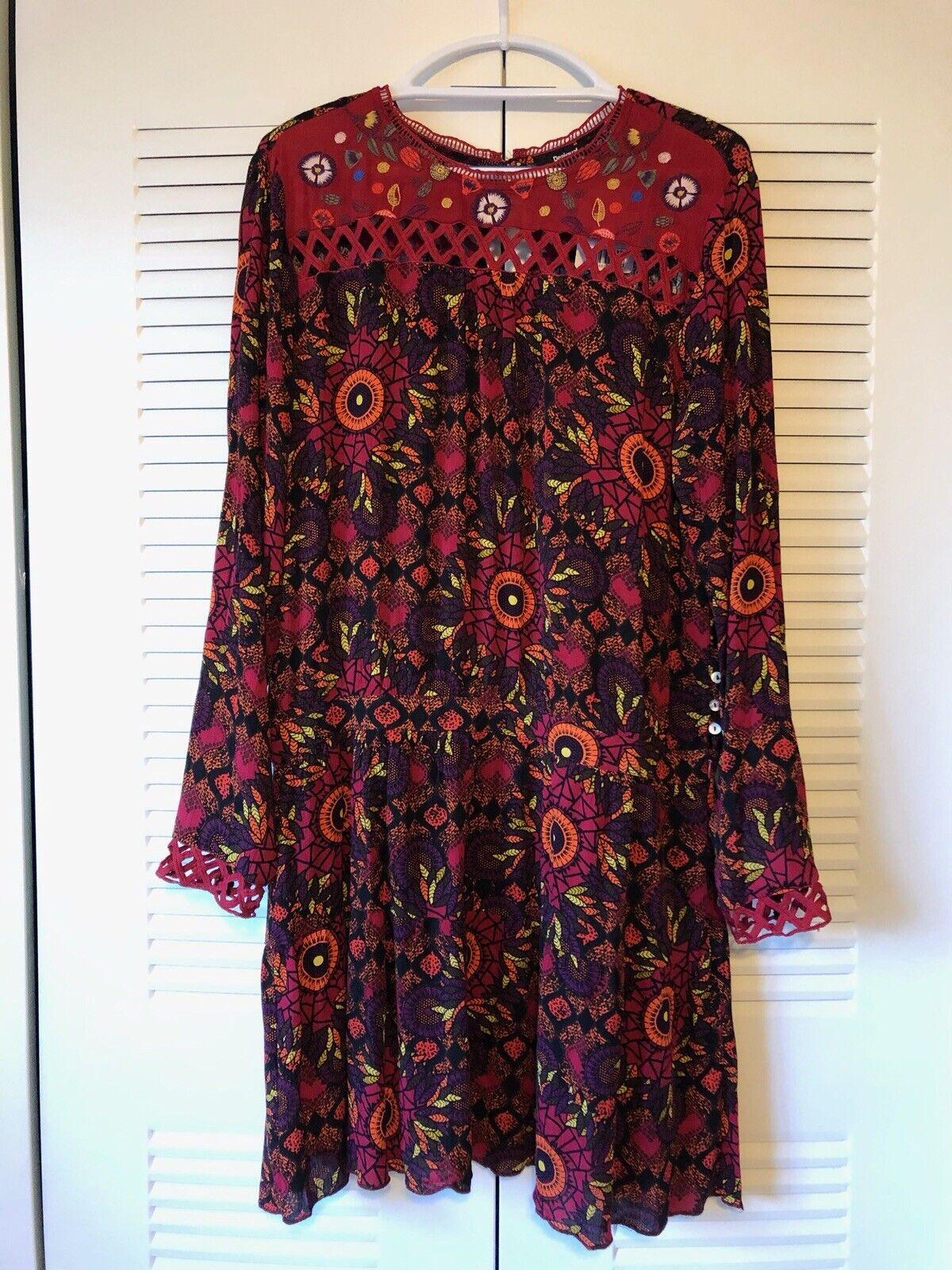 Desigual Robe Rosi rednanja red Dress NWT Size 42Eu US8