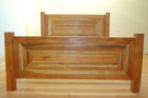 Trembesi Mahogany Kingsize Art Deco Bed Frame Indonesian Hardwood Ebay