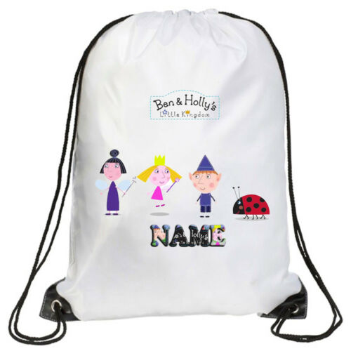 PE Personalised Kids Ben and Holly  Drawstring Bag- Swimming School Gymsac