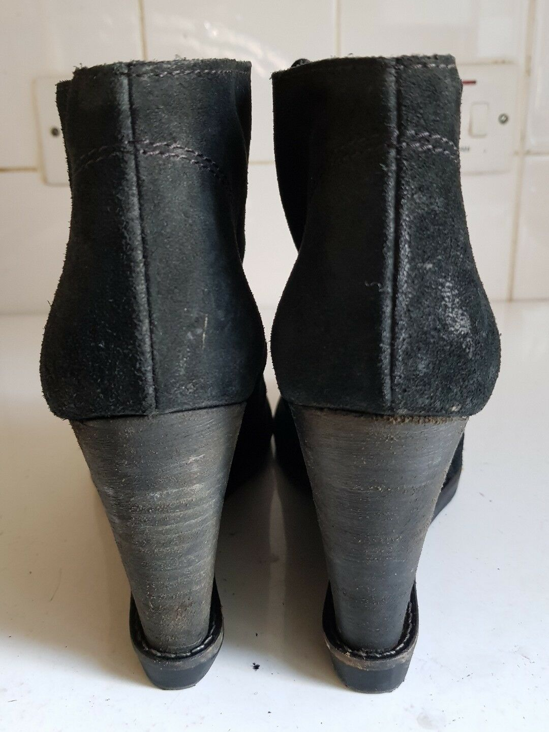 Europe Ladies Over Buckle Block Over Ladies the Knee Faux Leather Boots Heels Shoes EUR33-45 164ee9