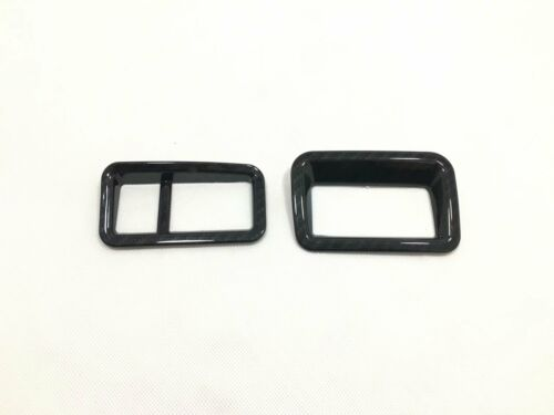 Black ABS Headlight Switch Button Trim Cover For Toyota  CHR 2016-2018