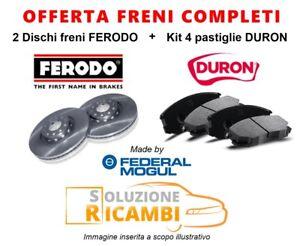 KIT-DISCHI-PASTIGLIE-FRENI-POSTERIORI-SAAB-9-5-Berlina-039-10-gt-2-8-Turbo-V6-XWD