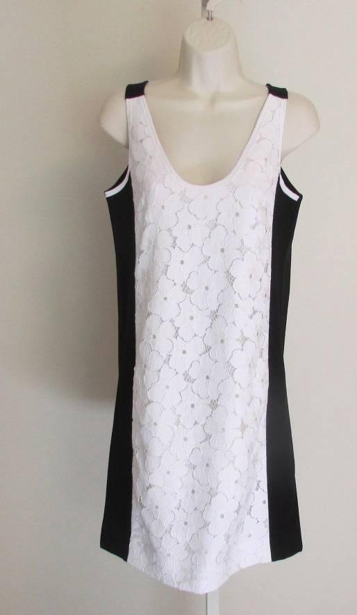 Diane Von Furstenberg desta Ojal Vestido  blancoo Negro Encaje 4 Cambio Sin Mangas DVF  apresurado a ver
