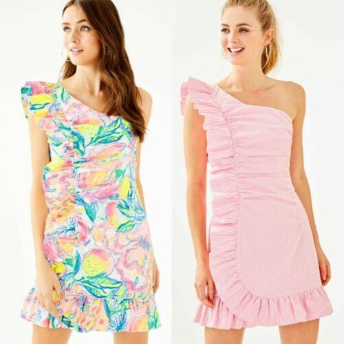 Lilly Pulitzer ONE SHOULDER SHIFT DRESS 00-12