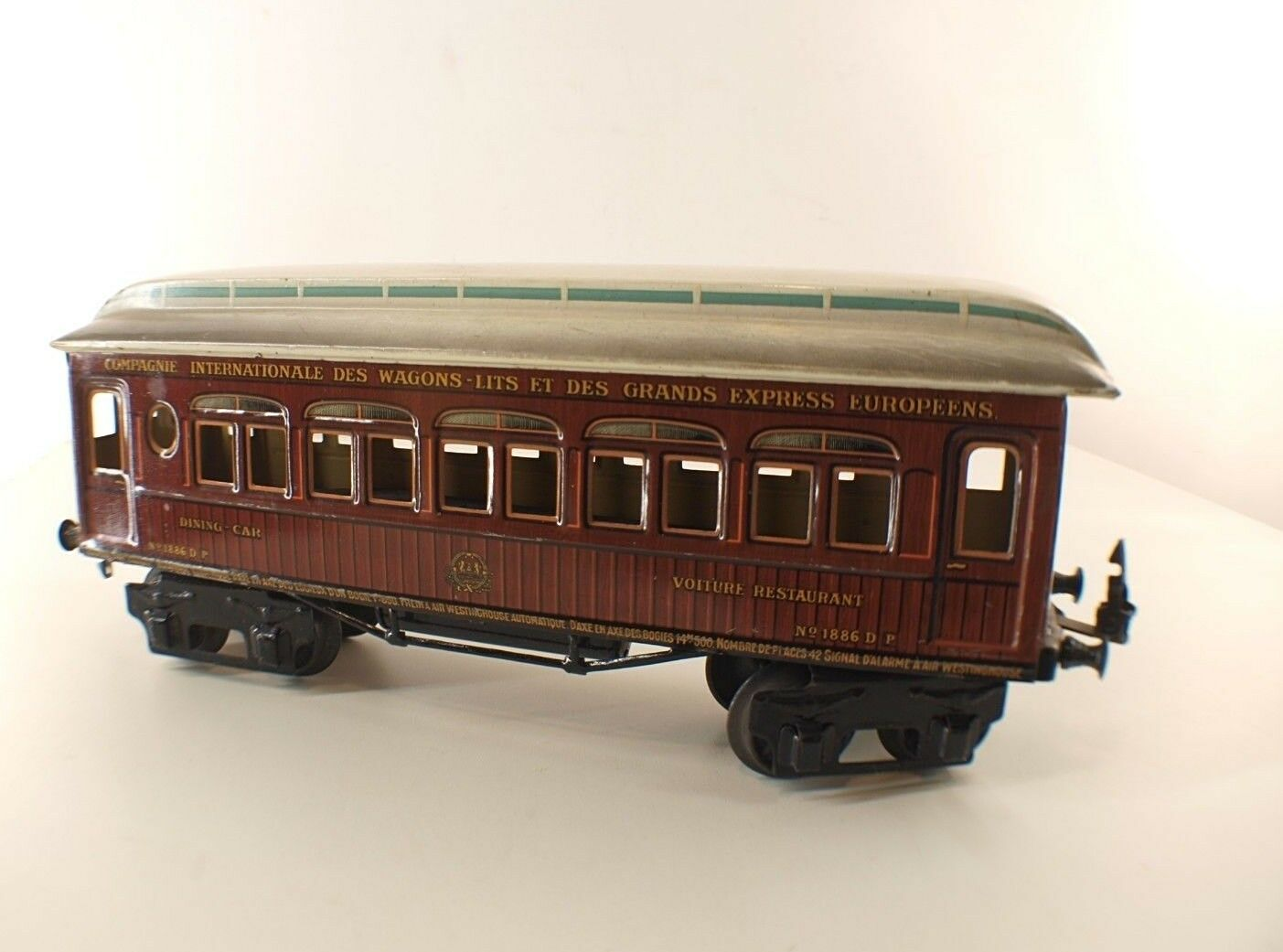échelle I 1886 Wagon voyageurs Dining car Cie Wagons-lits Rare 1/32
