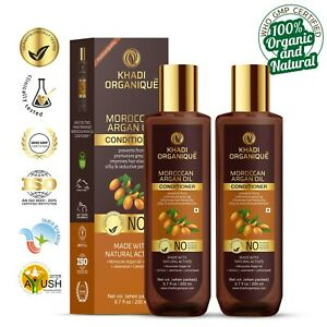 Moroccan Argan Oil Khadi Conditioner 100% Organic Herbal Improves Hair Pack of 2
