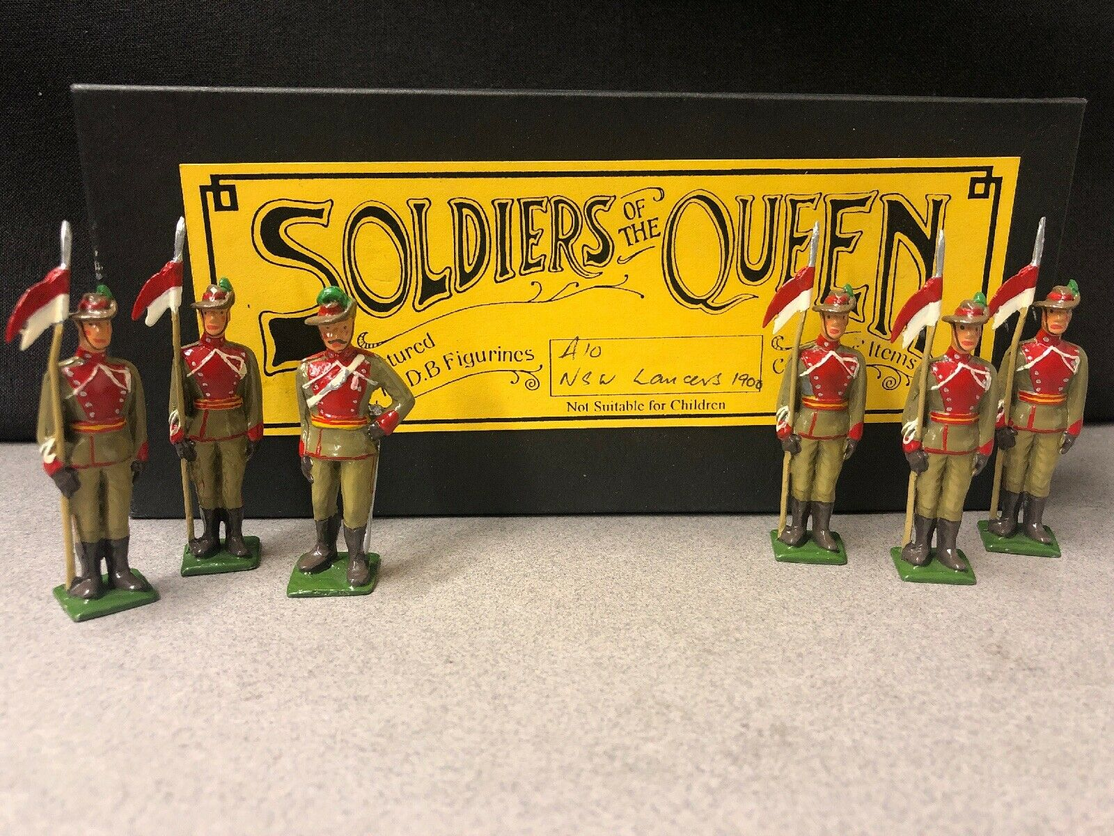 DB Figures Soldiers of the drottning A10 New söder Wales Lancers 54mm MIB