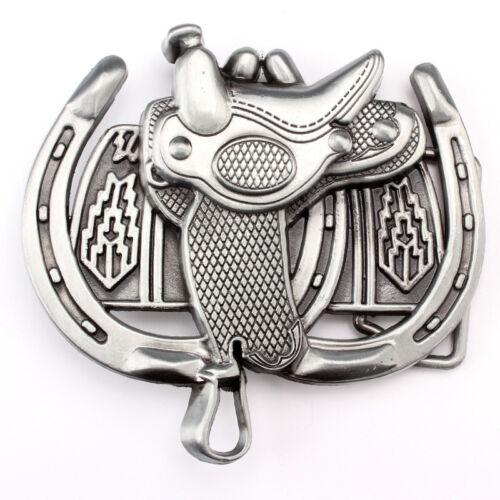 HRS-08 Vintage Horse Saddle Belt Buckle Western Cowboy Native American