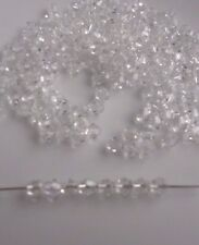 4mm Crystal Glass Bicone Beads  - Clear - Pack of 200 - Jewellery Making