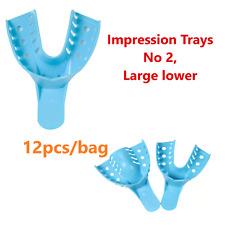 Dental Impression Tray 2 Lower Large Impression Trays Reusable 12 Pcs Bag