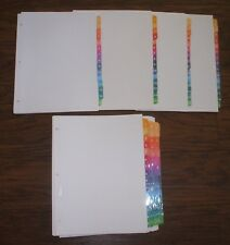 Lot 20 Sets Avery 11197 15 Tab Ready Index Multicolor Dividers No Contents Page