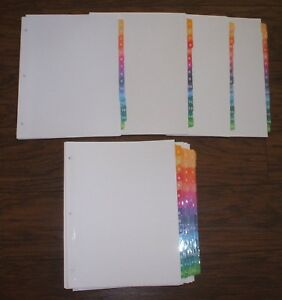 Avery Ready Index Table of Contents Dividers 6 Sets 15-Tab Set New 11197