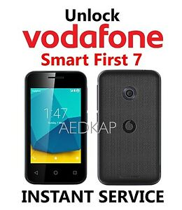 Details about Unlock Code Vodafone Smart First 7 VFD 200 V200 Via IMEI  Service