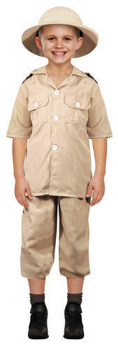 Safari Esploratore Ragazzi Costume Giungla Zoo KEEPER Uniforme Costume Bambino Kids