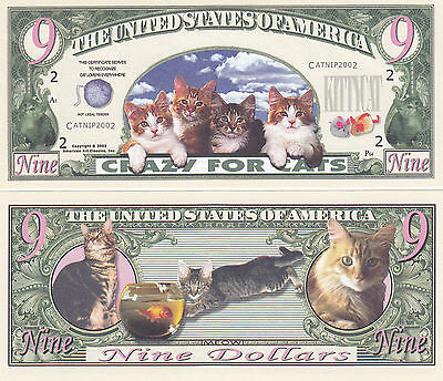 Russian Blue Cat Novelty Currency Bill # 929
