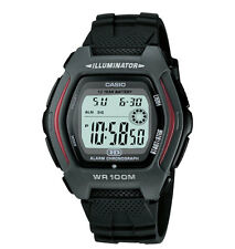 Casio HDD600-1AV, Digital Chronograph Watch, Black Resin, Alarm, 100 Meter WR