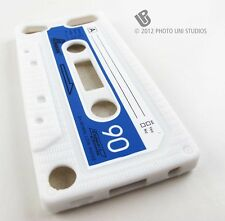 WHITE FUN CASSETTE TAPE SILICONE RUBBER SKIN CASE COVER APPLE IPOD TOUCH 5