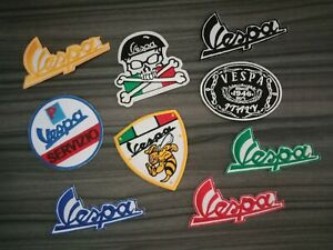 Logo-VESPA-Motor-Racing-Car-Motorcycles-Bike-Iron-on-patch-embroidered-Sew-on