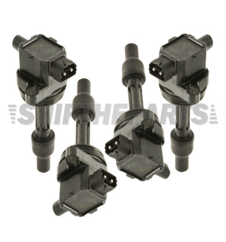 SET 4 VOLVO S40 V40 IGNITION COIL COILS OE QLTY SPARK PLUG CONNECTOR 1275602