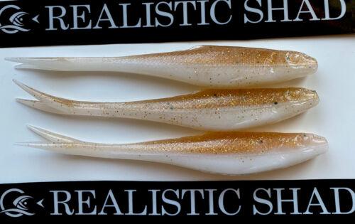 Fluke Tail Realistic Shad 12cm X 3