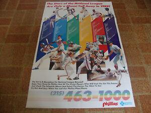 Philadelphia Phillies---1989 Schedule & Ticket Plans---Poster---22x34---VHTF