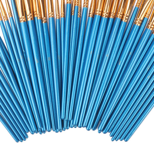 50X Miniature Paint Brush Set Professional Sable Hair Fine Detail Art Nail Model
