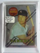 1996 Topps Mantle Finest #19 Mickey Mantle 1969 Topps : New York Yankees