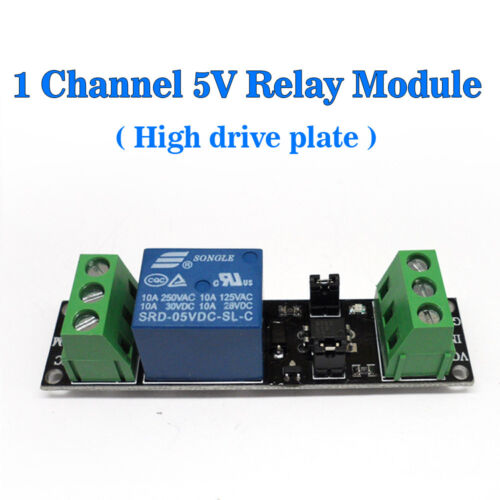 Single Channel 5V Relay Isolation Drive Control 1Channel High drive plate USA