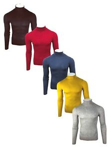 Men-039-s-Jaama-Thermal-High-Collar-Turtle-Roll-Polo-Neck-Viscose-Winter-Tops