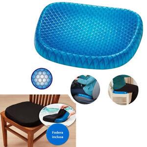 Cuscino-in-GEL-sedia-sedile-nido-d-039-ape-comfort-sostegno-seduta-corretta-flex