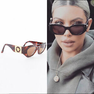 b8d3551e77d Image is loading GIANNI-VERSACE-Vintage-brown-tortoise-angular-cateye-gold-