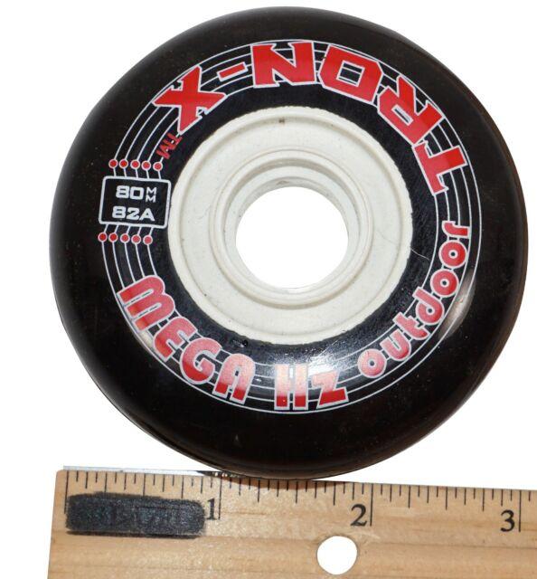 Outdoor Rollerblade Inline Hockey Fitness Skate Wheels 76mm 82A NEW Bearings