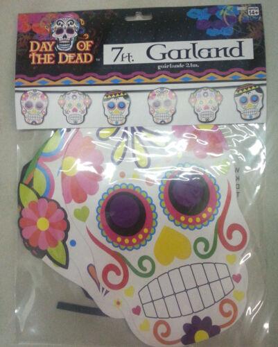 Day of the Dead Sugar Skull Garland 7 Feet Long