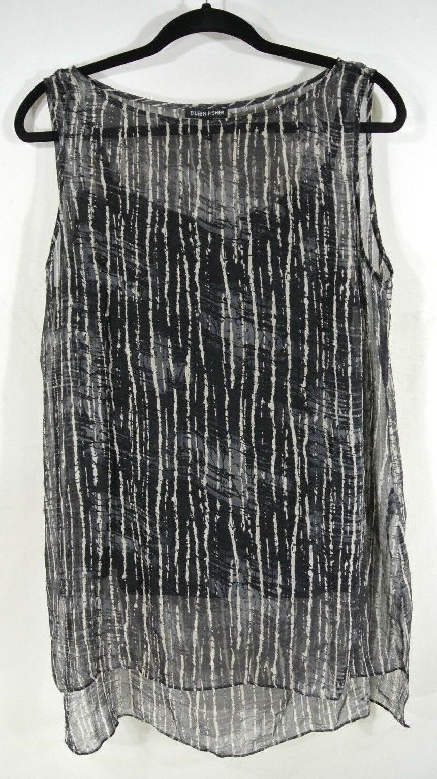 NEW Eileen Fisher Silk Sleeveless Blouse W Tank SZ M  T580