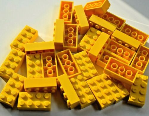 Lego Pack of 30 Genuine Bricks 2x4 Part Number 3001 Choose your colour Job Lot