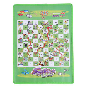 Snake and Ladder Dice Children Kids Develop Non-woven Foldable Traditional Games