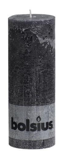 Bolsius Rustic Pillar Candle Wide Range Size Colour Long Burn Time