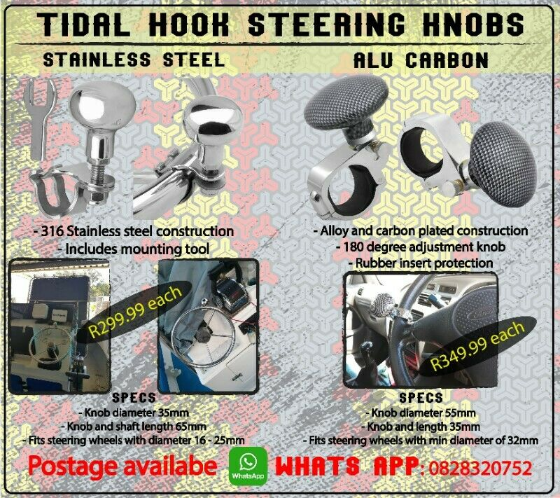 Steering knobs - Alu carb and stainless steel