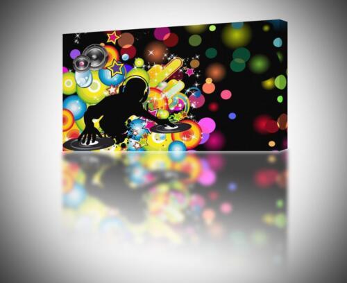ABTRACT COLOURFUL DJ CANVAS PRINT Wall Art Decor Giclee 4 Sizes