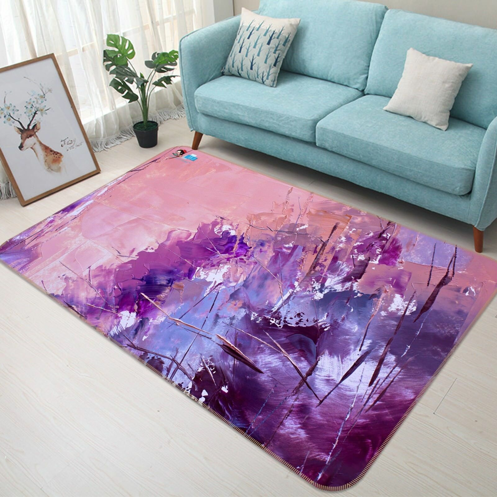 3d púrpura pintar 52 antideslizante alfombra de maletero calidad elegante alfombra de