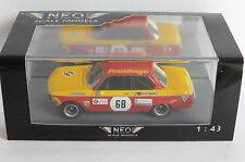 BMW 2002 E10 #68 PNEUHOGE DRM 1970 OBERMOSER NEO 45447 1/43 DEUTSCHE ROT GELB