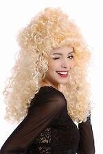 Perruque Femmes Halloween Carnaval blonde Baroque Crinière volumineux bouclé