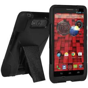 huge discount 97eac 2b986 Details about AMZER Hybrid Soft Cover Hard Shell Stand Case for Motorola  DROID Ultra XT1080